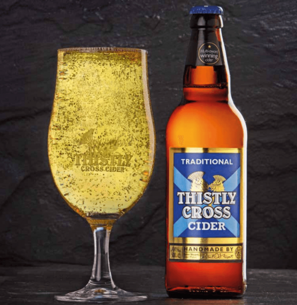 Thistly Cross Cider and Glass
